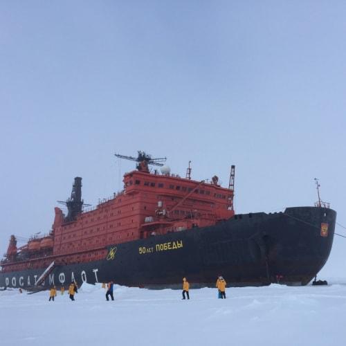 ロシアに2船ある原子力砕氷船の一つ、50th years of Victory ! | 北極点での客船50イヤーズ・オブ・ヴィクトリー