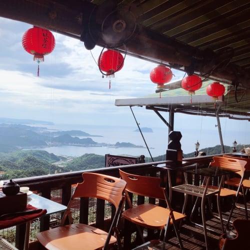 見晴らしが最高なお茶屋さんで休憩😊   基隆 / 台北