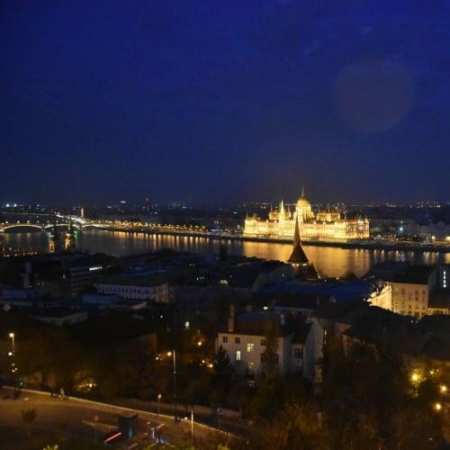 ブタペスト、王宮の丘からの夜景 | ブダペスト