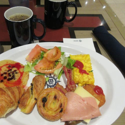 9/28 The last breakfast at 14th FL cafeteria, buffet