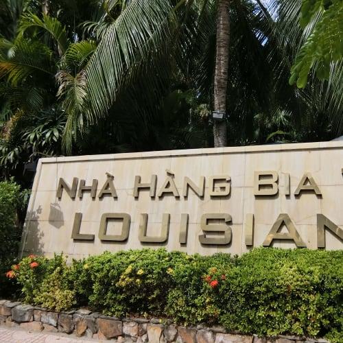 ニャチャンのルイジアナレストラン、なんでこんな名前?いい海岸のレストランでした。飲みすぎました。 | ニャチャン