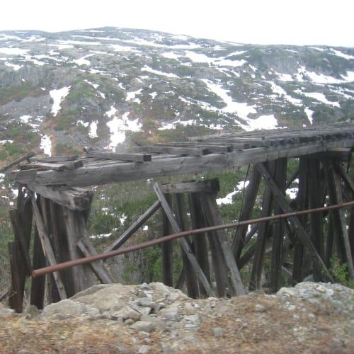 木製の橋。 | スカグウェイ(アラスカ州)