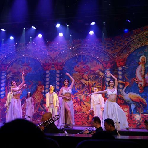 Music in picturesのフィナーレはインド人を意識したのかボリウッドでした。 | 客船ボイジャー・オブ・ザ・シーズのアクティビティ