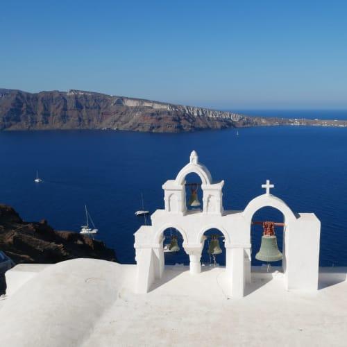 アドリア海は真っ青 | サントリーニ島