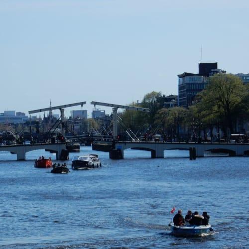 Day7#アムステルダム#運河沿いの風景#マヘレの跳ね橋 | アムステルダム