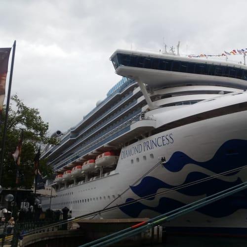 一応、お約束ということで今回の船。 シドニーにて。 | シドニーでの客船ダイヤモンド・プリンセス
