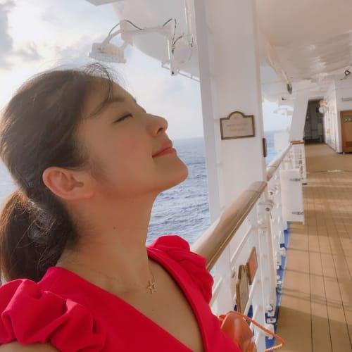 ディナーまでの間のサンセットを楽しむ時間❤️ | 客船ダイヤモンド・プリンセスの乗客、船内施設