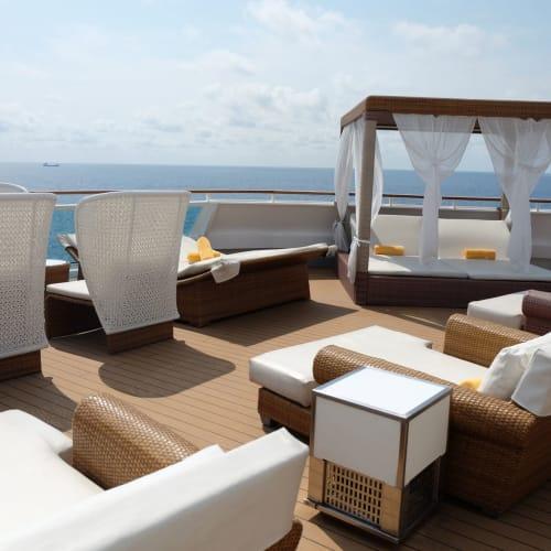 このカバナを独り占めしたい。 | 客船コスタ・ネオロマンチカの船内施設