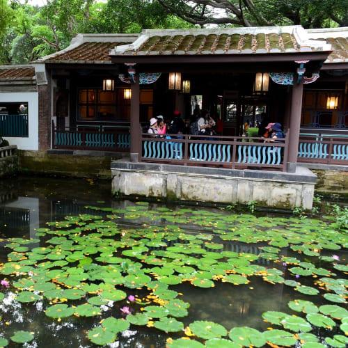台北郊外の林本源園邸の庭園   基隆 / 台北