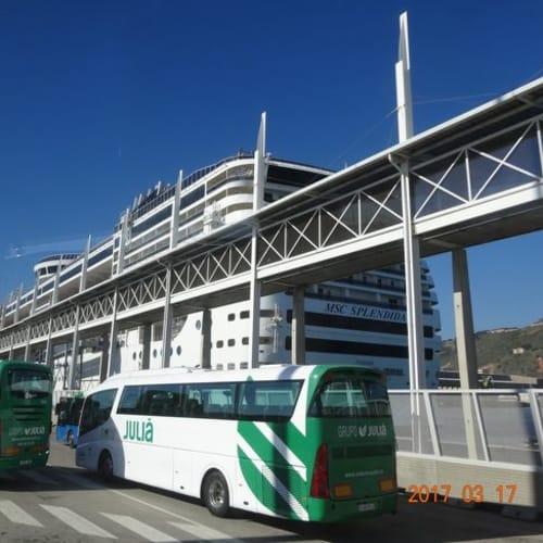 下船 | バルセロナでの客船MSCスプレンディダ