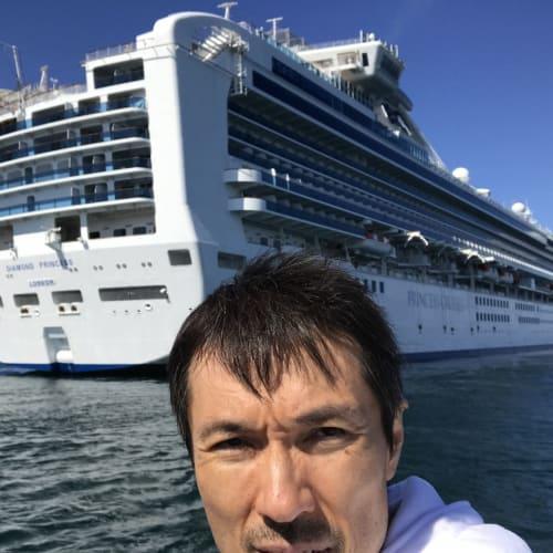 テンダーボート🚤でコルサコフへ上陸! | コルサコフ(サハリン島)での客船ダイヤモンド・プリンセス