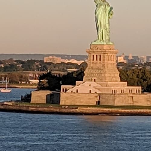 Passing Statue of liberty at 7am