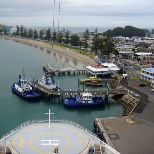 タウランガ港。ビーチ沿いにマウントマンガヌイまで歩く。 | タウランガ