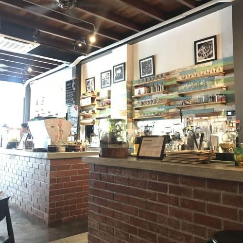カフェで一休み   ペナン島