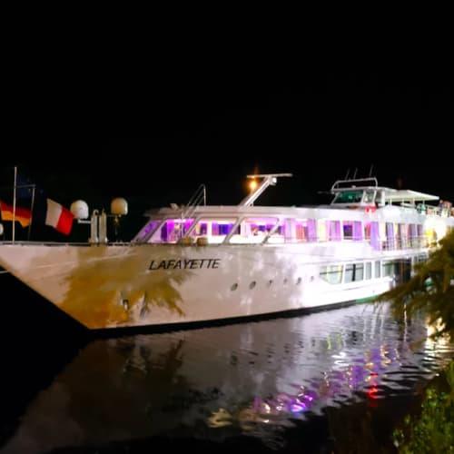 夜のリバークルーズも良いです。 | ストラスブールでの客船MSラファイエット