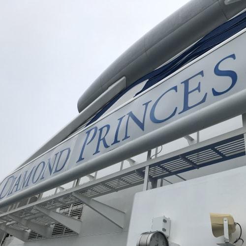 地元横浜からの乗船! 曇り空だけど、まずは船内探検😊 | 横浜での客船ダイヤモンド・プリンセス