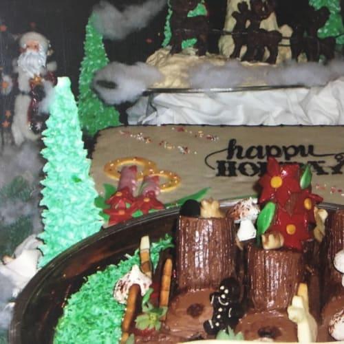パティシエによるクリスマス飾り | 客船サン・プリンセスのクルー、フード&ドリンク、アクティビティ