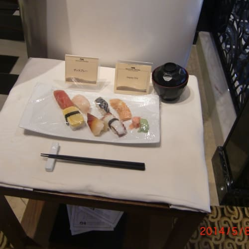 有料のお寿司屋 「kai」 1卷 300円 ?     客船サン・プリンセスのダイニング、船内施設