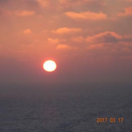 クルーズ最後の日の夕日