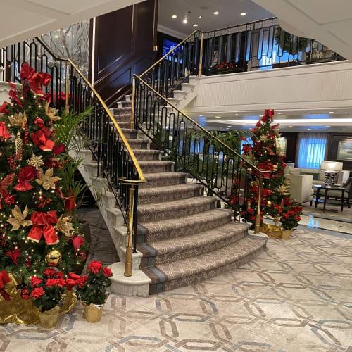 クリスマスの雰囲気を盛り上げています。 | 客船シィレーナの船内施設
