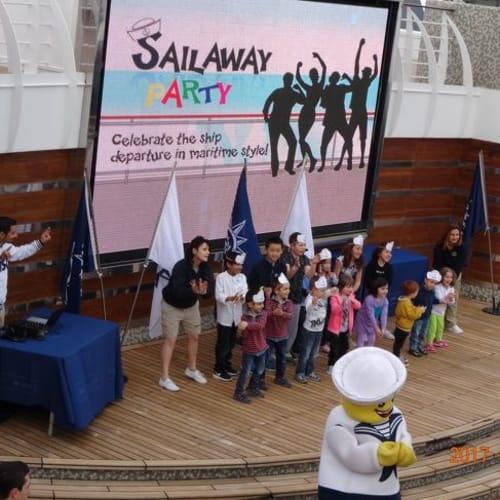 甲板でもたくさんのイベントが | 客船MSCスプレンディダの乗客、クルー、アクティビティ