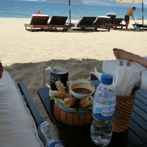 のんびりするには絶好。日本の海岸では味わえない。 | ニャチャン