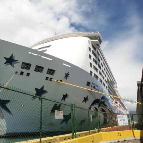 客船プライド・オブ・アメリカの外観