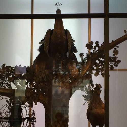エルミタージュ美術館に入ってすぐ展示してあった、孔雀のからくり時計。ゴージャスでした。 | サンクトペテルブルク