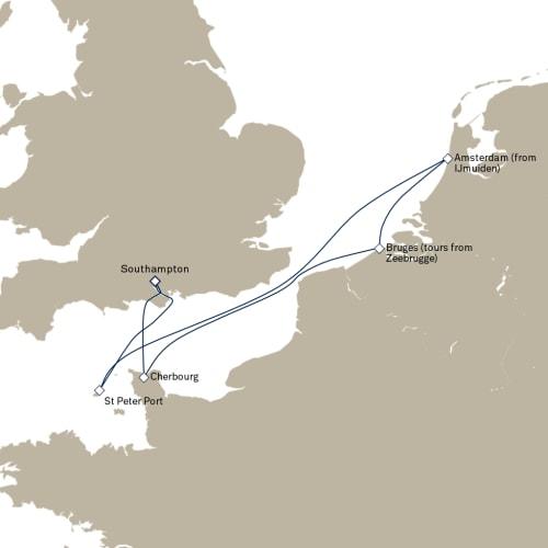 憧れのサウザンプトンからの7泊8日の船旅。