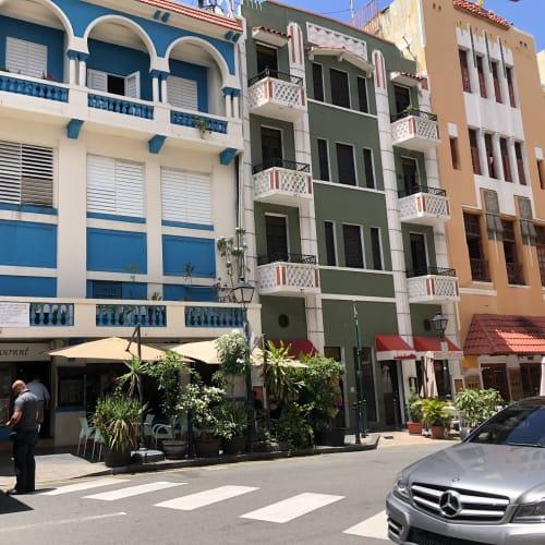プエルトリコにて。サンファンのカラフルな街並み。 | サンフアン(プエルトリコ島)