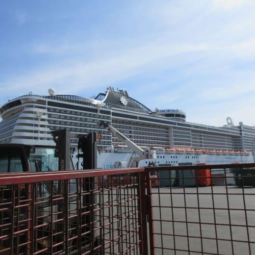 MSC ship at Genova port | 客船MSCディヴィーナの外観
