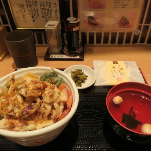 富山での昼食は「ほたるいか天丼」を賞味 | 富山