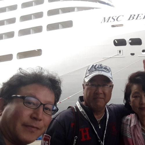 客船MSCベリッシマの乗客、外観