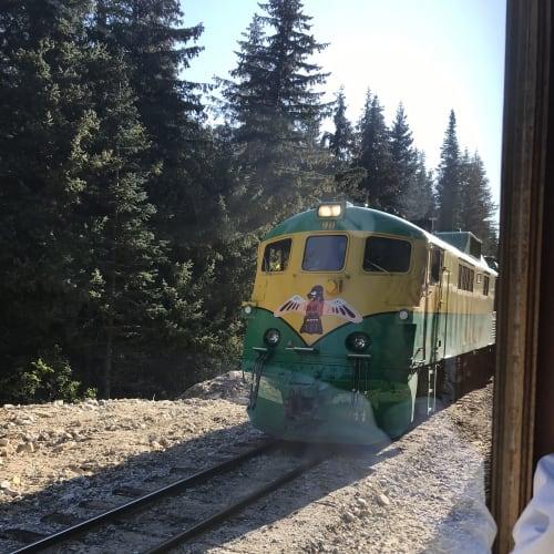 ホワイトパス・ユーコン鉄道で山岳ツアー   スカグウェイ(アラスカ州)