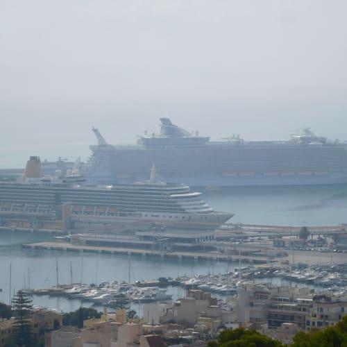 ベルベル城からアリュールが見えました! | パルマ・デ・マヨルカ(マヨルカ島)での客船アリュール・オブ・ザ・シーズ