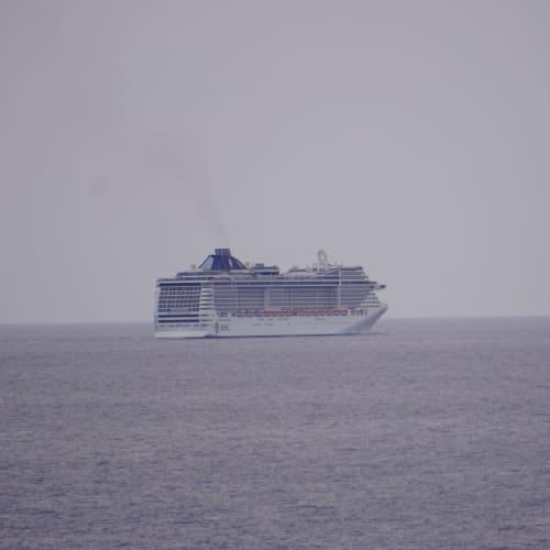 九州、四国沖で航行中にMSCスプレンディダに遭遇しました。 | 客船MSCスプレンディダの外観