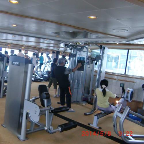 ジム 無料   客船サン・プリンセスのアクティビティ、船内施設