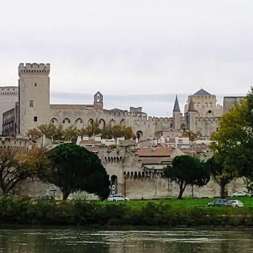 アヴィニョンの城壁に囲まれた旧市街にある教皇庁