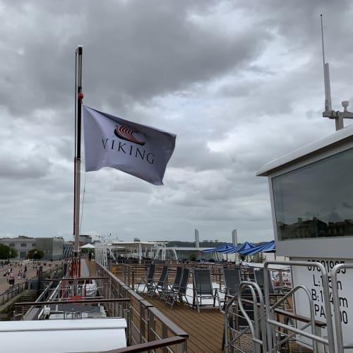 ボルドーのガロンヌ河岸に横付けされた船の出航が待ち遠しかった。 | ボルドーでの客船バイキング・フォルセティ