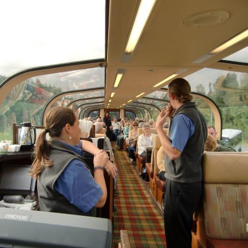 展望列車デナリ号の中 | デナリ国立公園
