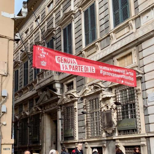 ジェノバのロッリの邸宅群があるガリバルディ通りの入り口です。 | ジェノヴァ
