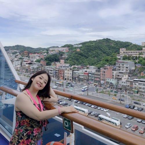 基隆に到着です。 山の中にキールンって書いてあるの分かりますか? | 基隆 / 台北での客船ダイヤモンド・プリンセス