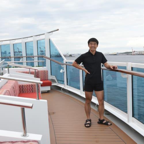 客船コスタ・ベネチアの乗客、船内施設