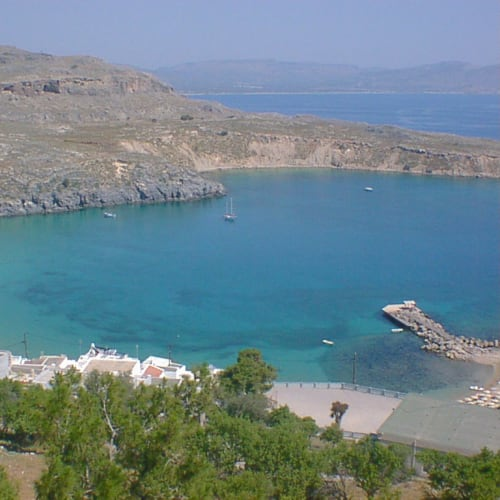 アクロポリスから見える美しいエーゲ海 | ロドス島