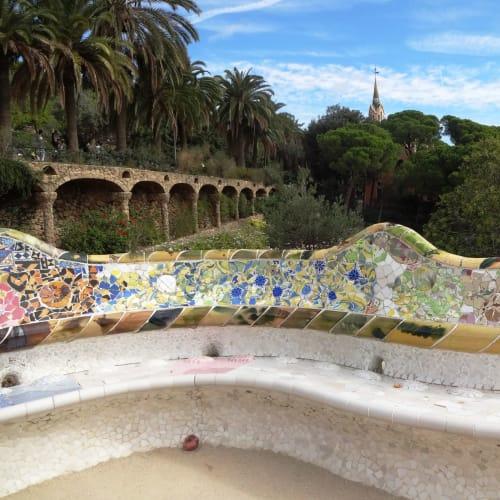 以外にも座り心地の良いグエル公園のベンチ | バルセロナ