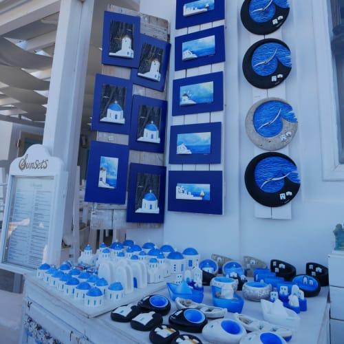 お店も青と白 | サントリーニ島