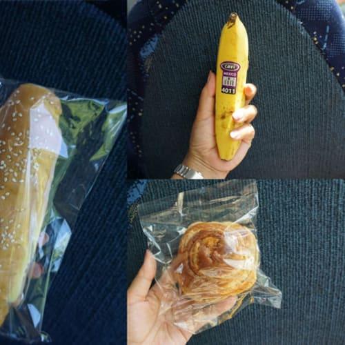 ツアー乗車時に頂いたランチパックの中身はこんな感じでした。 (パックのジュースもあり)  遺跡内には食べ物の持ち込みは一切禁止です。 | コスメル