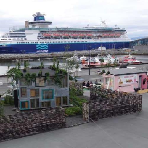 プルマントゥール モナーク号です。港は駅から徒歩で行くことができました。 | 客船プルマントゥール・モナークの外観