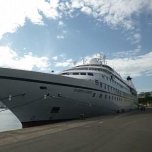 シーボーンレジェンドとのお別れも近い・・。 | 客船シーボーン・レジェンドの外観
