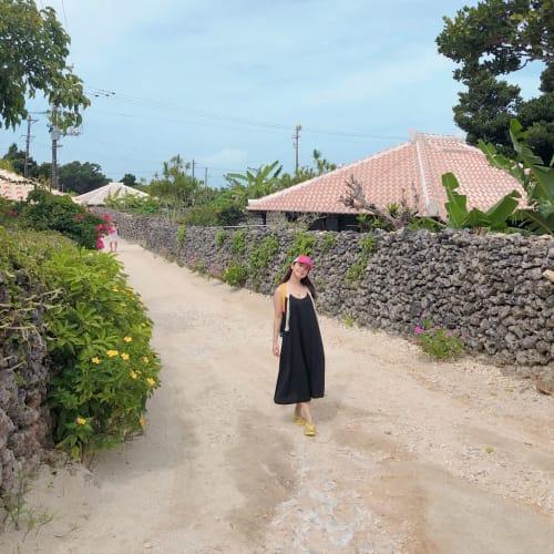 石垣島からフェリーで竹富島へ。 とても長閑で美しい集落を散策するだけでも楽しかったです! | 石垣島での客船ダイヤモンド・プリンセス